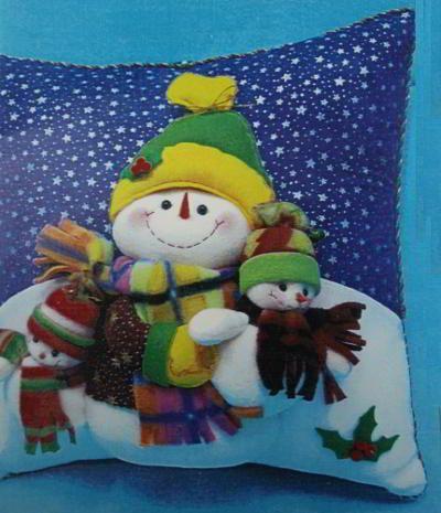 Free Patterns and molds Cushions Christmas | EcoArtesanias.com