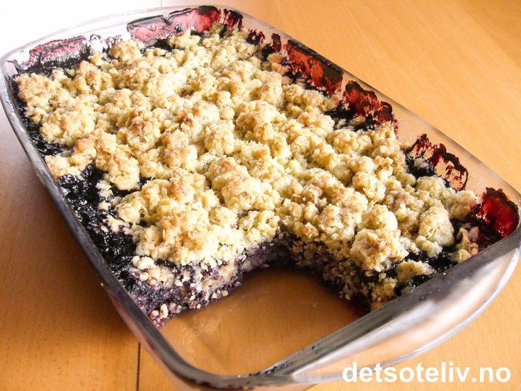 Havrepai med blåbær | Det søte liv