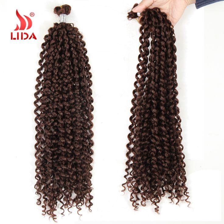 "Free Shipping Box Braids Water Wave Bulk Crochet Latch Hook Braiding Hair 28"" Kanekalon Box Braids Crochet Extensions Lida Hair"