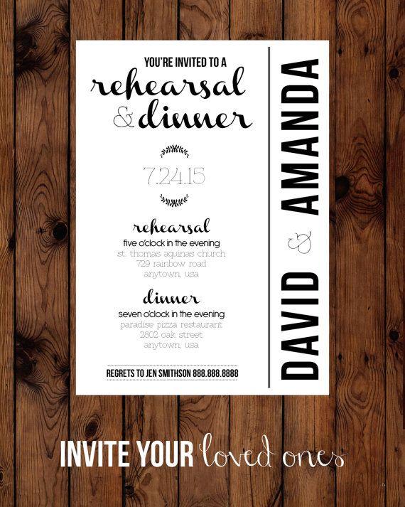 best 25  wedding rehearsal invitations ideas on pinterest