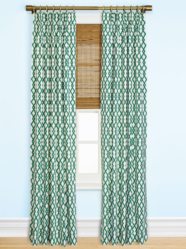 This window treatment combo is a look we don't see too often, and one we like a lot. #hgtvmagazine http://www.hgtv.com/window-treatments/custom-window-treatments-4-fabrics-8-styles/pictures/page-5.html?soc=pinterestBamboo Shades, Pattern Curtains, Hang Curtains, Bold Pattern, Master Bedrooms, Curtains Ideas, Bedrooms Windows, Windows Treatments, Bamboo Blinds