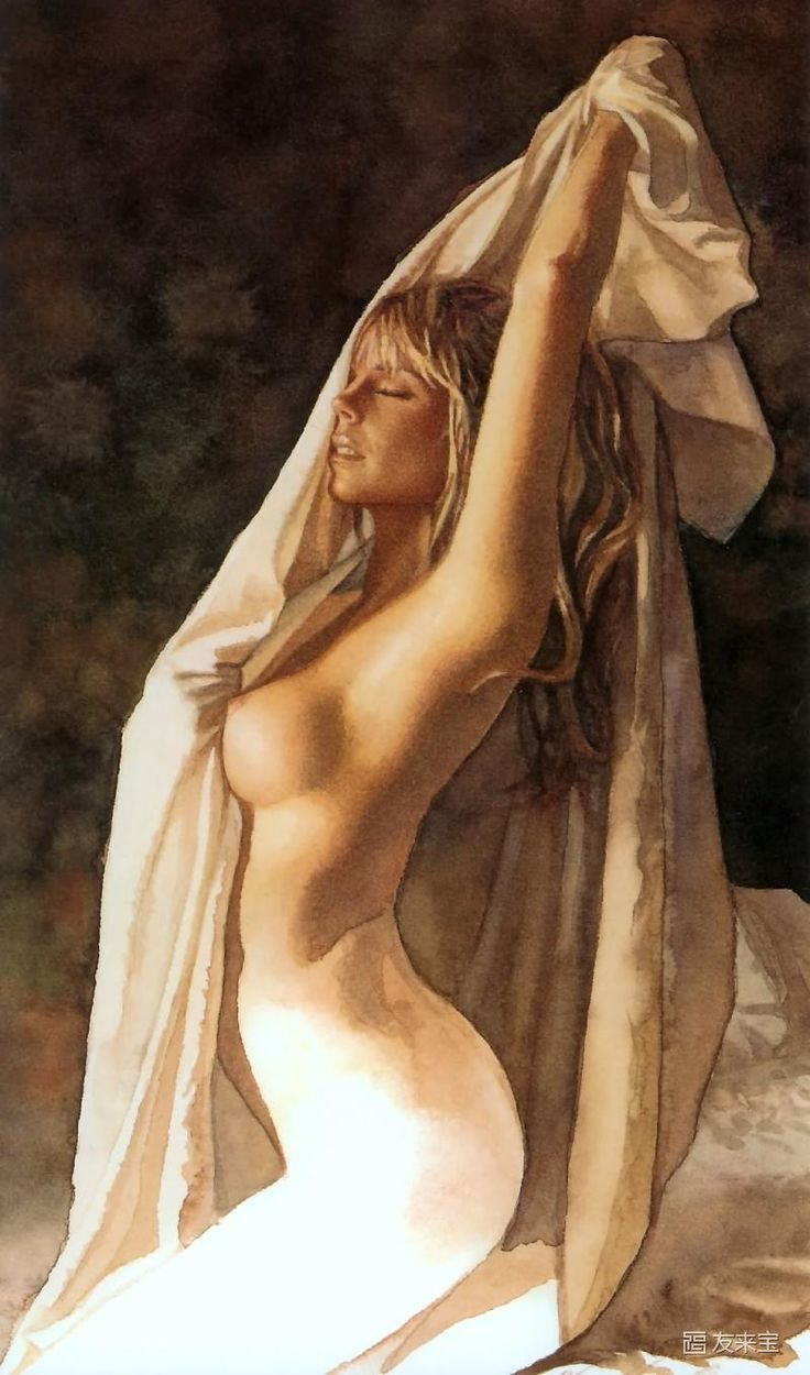 Nude watercolors of steve hanks 9