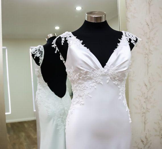 Unique wedding dress/Sample sale/Backless wedding by SilkBrides