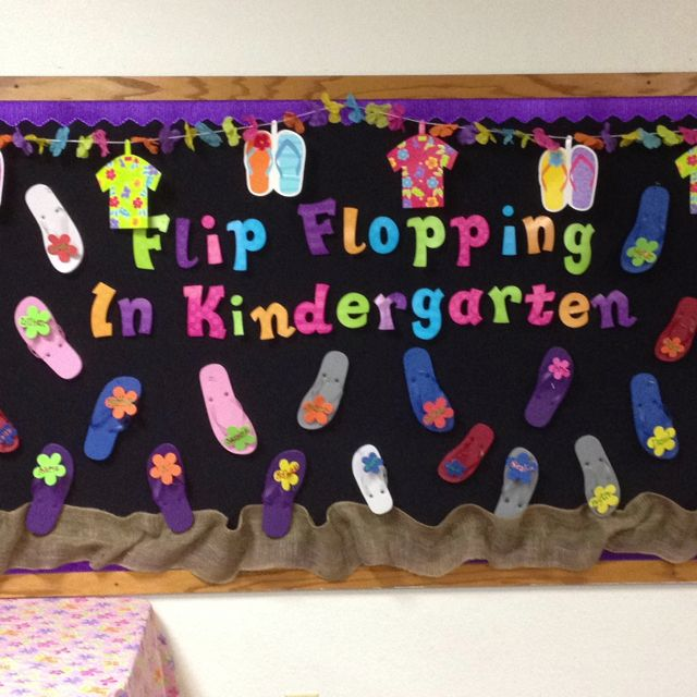 Classroom Ideas Second Grade ~ Luau theme this year kids names on flip flops ideas