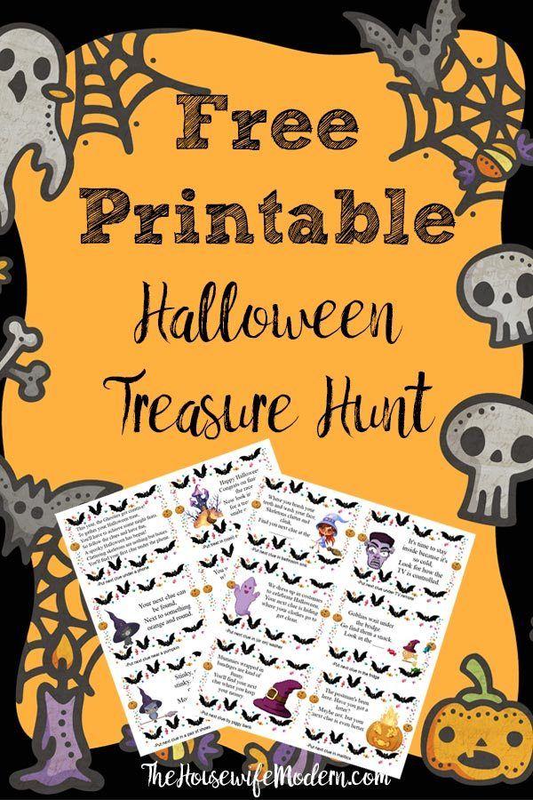 Free Printable Halloween Treasure Hunt for Kids Treasure
