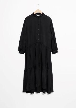 & Other Stories | Ruffle Collar Midi Dress