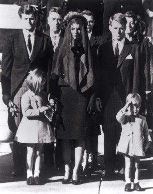 Kennedy family at John F. Kennedy's funeral