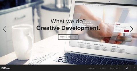 Diffuse – Creative Development is a responsive site of inspiration having combination of white and black color, big image slider and nice jquery work. http://minimalistgallery.com/