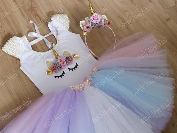 Unicornio el juego contiene: Tutu Falda bordada con perlas; Banda unicornio cuerpo bordado con perlas. Atención: al realizar el pedido, con urgencia pedimos la opción de entrega expresa