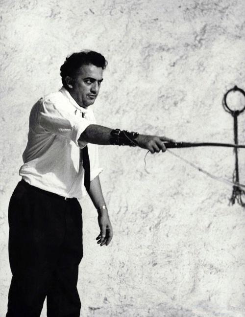 Fellini on-set of 8 1/2
