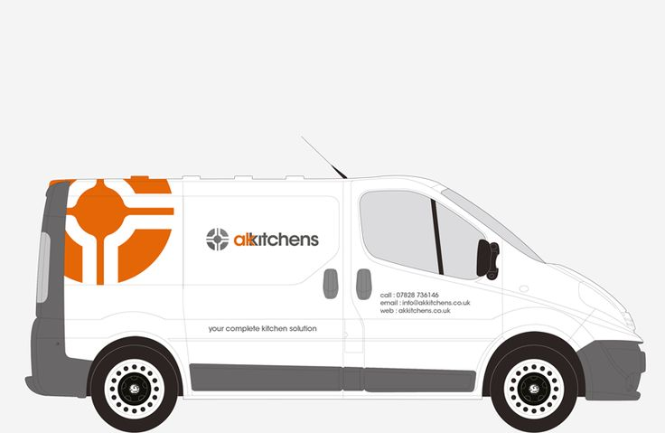 AK Kitchens Van graphics | The Design Attic