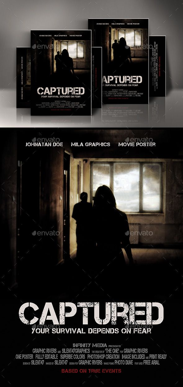 Captured Movie Poster Template #BookCover #cover #dark #death