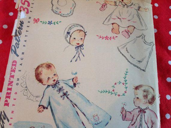 Vintage Simplicity Pattern 4060 layette pattern baby layette