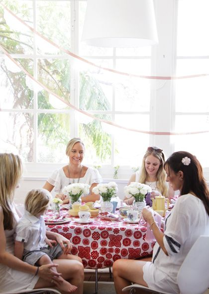 Dandi Doilie tablecloth perfect for a ladies lunch or high tea.   http://www.dandi.com.au/dining/fabric-