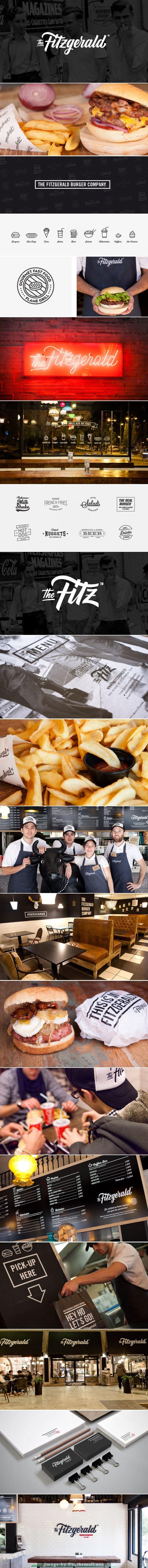 The Fitzgerald Burger Company. Global identity. Credit to Pixelarte. #branding #identity #design