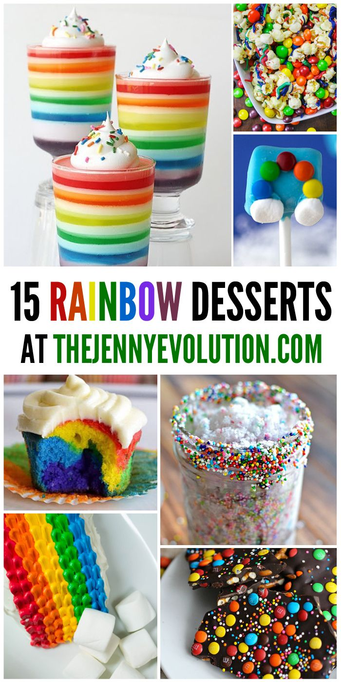 15 Rainbow Desserts - Perfect for Spring or St. Patrick's Day