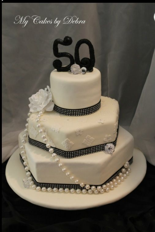 Elegant Birthday Cake Decorating Ideas : 21 best images about 50th Birthday Party on Pinterest ...