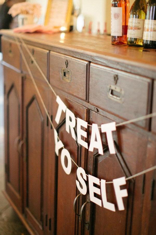 Treat Yo Self  Photography by carolinejoy.com,Coordination by behindthebash.net