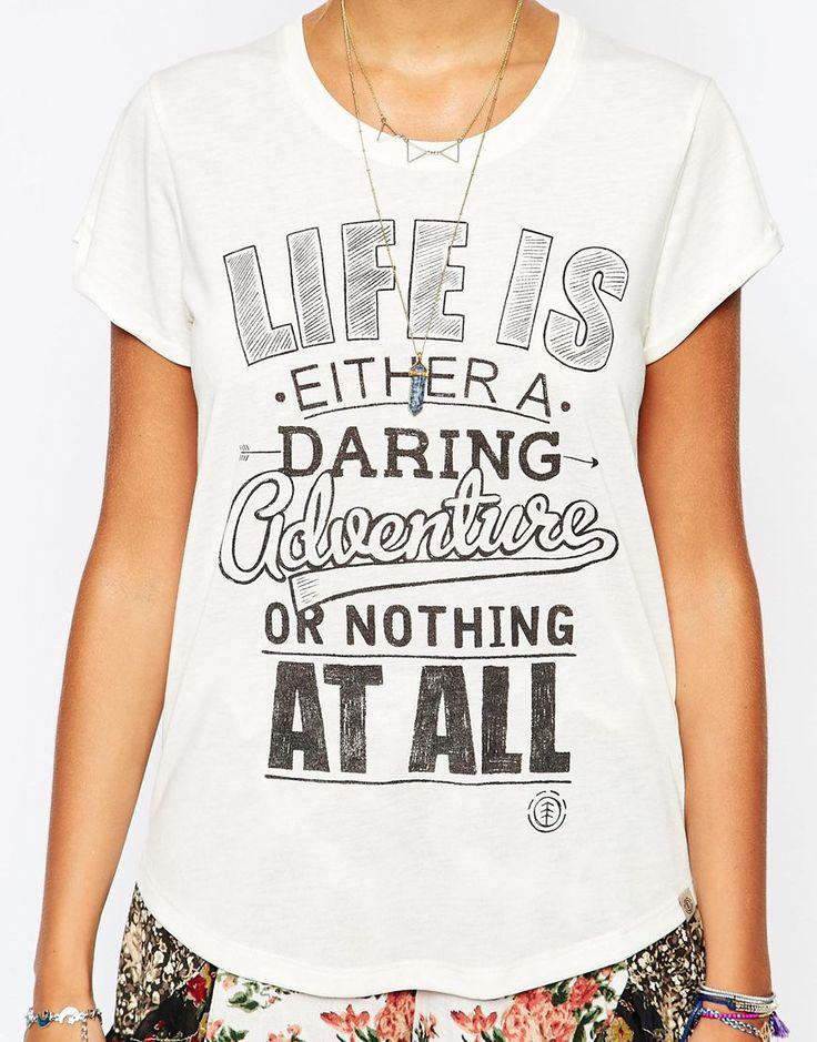Imagen 3 de Camiseta con estampado de eslogan Life de Element