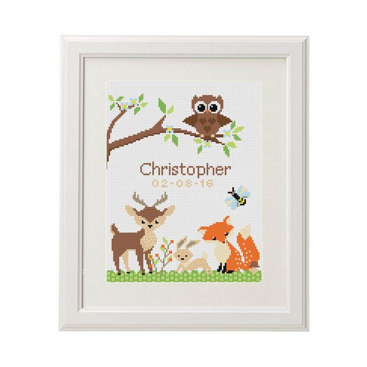 Bébé point de croix modèle bébé annonce animaux Fox Cerf Lapin Personnaliser point de croix compté naissance enregistrement par AnimalsCrossStitch sur Etsy https://www.etsy.com/fr/listing/454328614/bebe-point-de-croix-modele-bebe-annonce