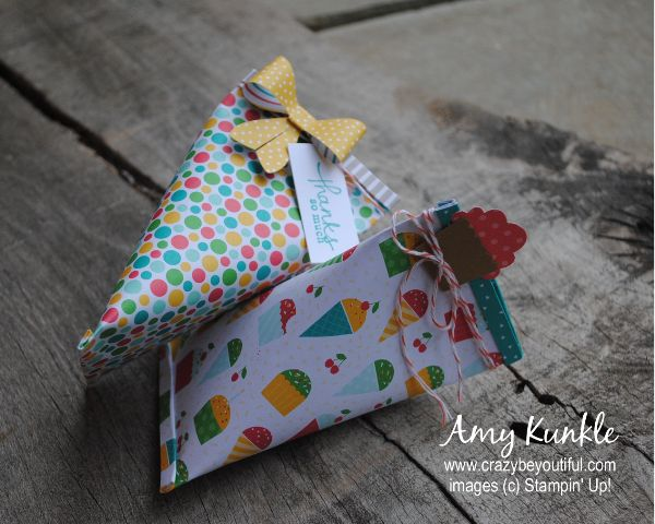 {crazy} beYOUtiful by Amy Kunkle ~ Stampin Up Demonstrator and Creative Studio - creating a sour cream favor that opens…