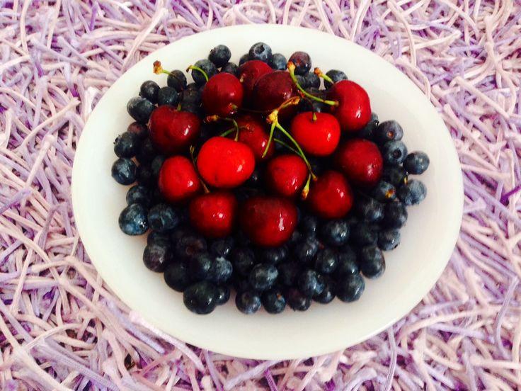 cherries and blueberries fresh fruits Claudia's Secrets School of life 3