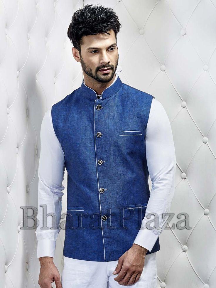 Blue Nehru Jacket