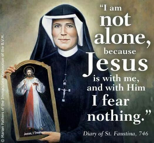 Catholics are never alone. It's one of the many comforts of being Catholic! <3