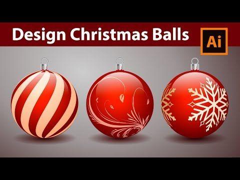 How to Design Decorative Christmas Balls - Adobe Illustrator Tutorial - YouTube