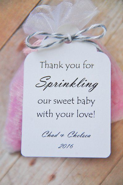 Baby Sprinkle Gift Tags by KendollMade (Baby Shower - Thank you - Gift) Personalized - Custom - www.KendollMade.com #KendollMade