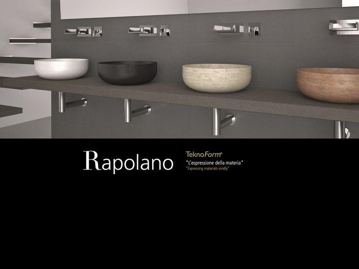Glass design rapolano lavabo de piedra natural - Lavabos de piedra natural ...
