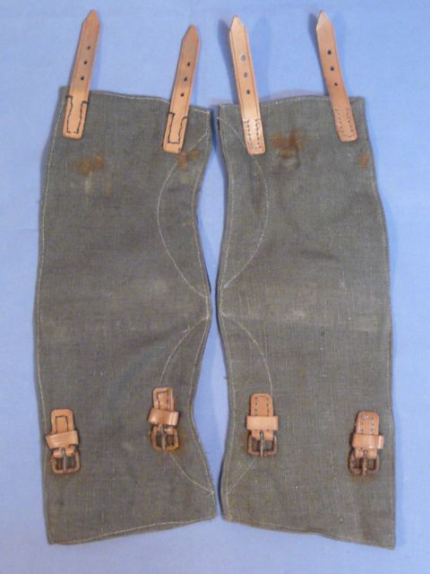 Original WWII German HEER (Army) Soldier's Gaiters, UNISSUED Pair
