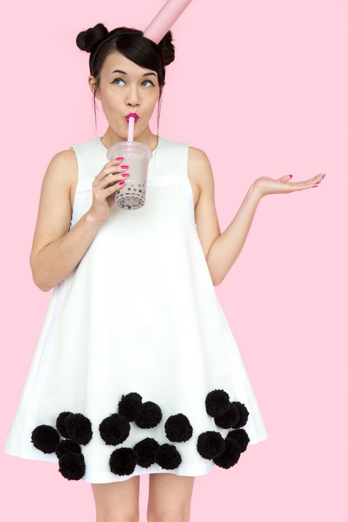 » DIY Bubble Tea Boba Halloween Costume
