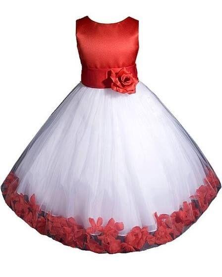vestido de tul con encaje para niñas.