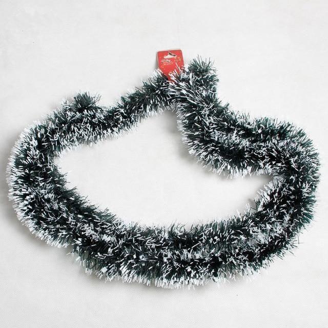 Christmas 2m Bar Tops Ribbon Garland Tree Decoration Ornaments Pop Tinsel Party