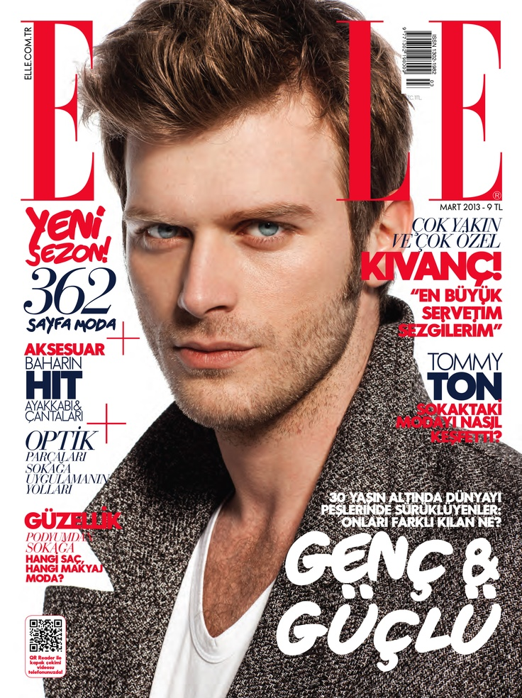 Kivanc Tatlitug wearing Burberry on the cover of the March issue of ELLE Turkey