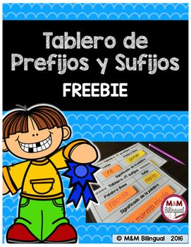 ~~Tablero de prefijos y sufijos~~How to use:Print pages 3 & 4 on cardstockLaminate for durabilityUse sticky notes to fill in the blanks with a prefix/suffix, base word, and word meaning.You can also use dry erase markers to write on and wipe off.Another option is to print these mats in POSTER size to use as interactive anchor charts students can go up to the board and write in words.All in SPANISH!Just print the organizer you need, have the students fill it out, and that's it.