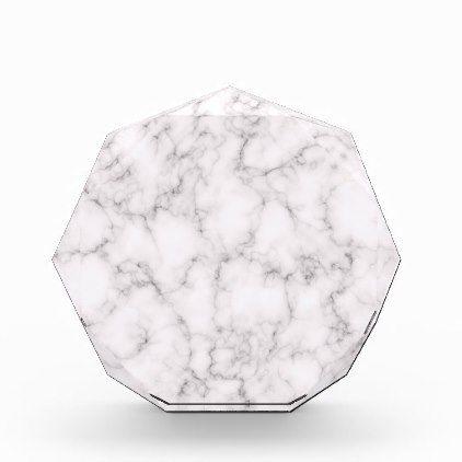 Elegant Marble style Acrylic Award - marble gifts style stylish nature unique personalize