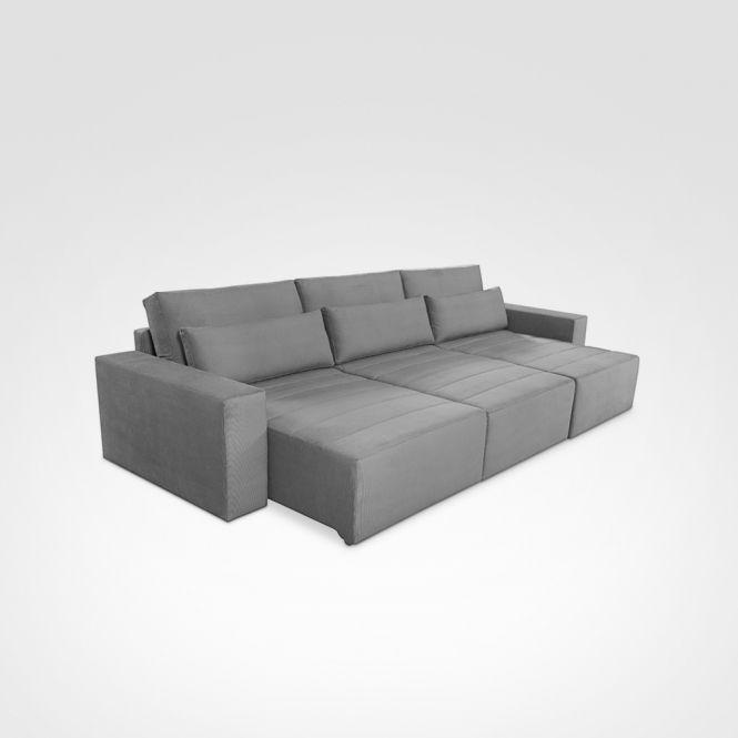 Sofá Retrátil com opções de modulações, o que permite tamanhos diferentes. Possue em sua grade de medidas chaise retratil. Assento com retratil e encosto reclinavel. Conforto ultra macio.