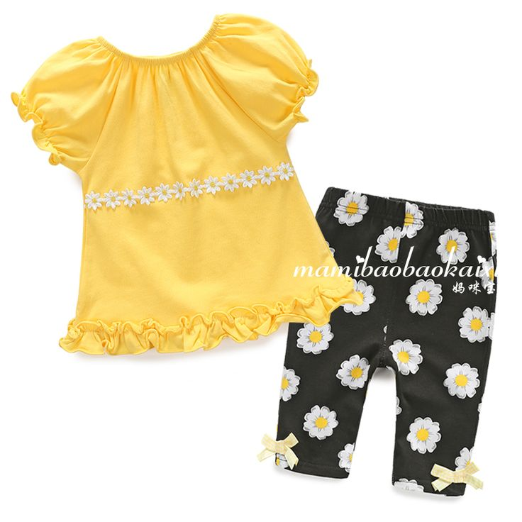 >> Click to Buy << new 2015 summer style baby clothing sets newborn baby girls short sleeved t shirts + kids flowers pants infantil princess suit #Affiliate