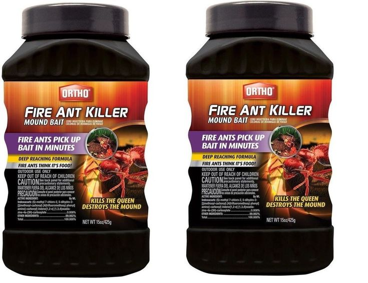 LOT of 2 Containers ORTHO FIRE ANT KILLER MOUND BAIT Kills The Queen 30 oz Total #Ortho