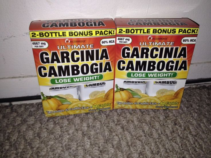 Garcinia Cambogia Weigh Loss Caplets-Brand New Lot Of 2 Twin Pack