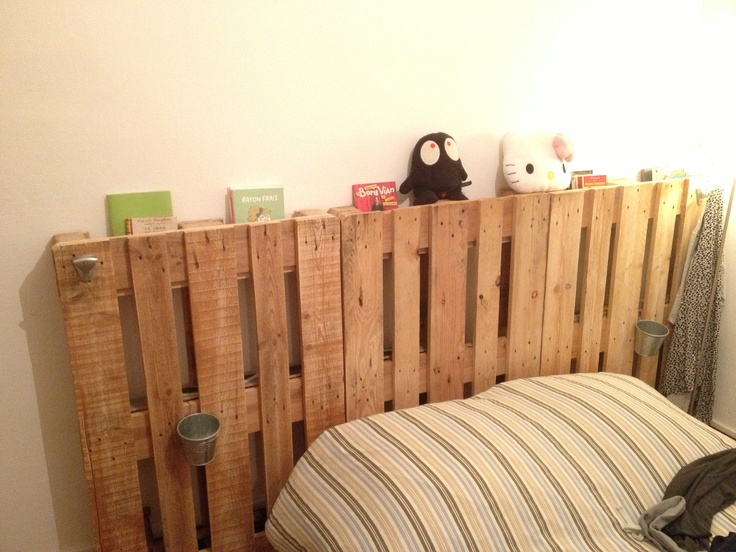 headboard t te de lit wood pallet palette bois diy pinterest wood pallets pallets and. Black Bedroom Furniture Sets. Home Design Ideas
