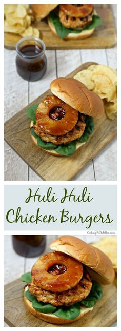 For an island twist, make these delicious Huli Huli Chicken Burgers from CookingInStilettos.com for your next cookout.  Ground chicken is grilled with a sweetly spicy huli huli sauce and nestled in Pepperidge Farm Farmhouse Hearty Rustic Potato Buns with fresh baby spinach, grilled sweet onion and pineapple. | #PepperidgeFarm #FarmhouseHeartyBuns #Sponsored