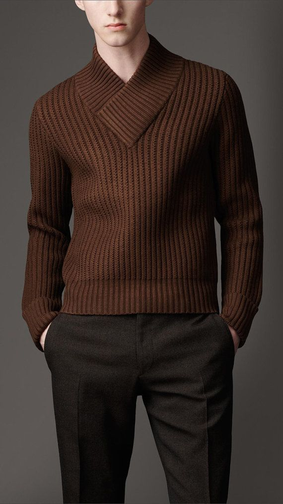 Rust Cardigan Sweater