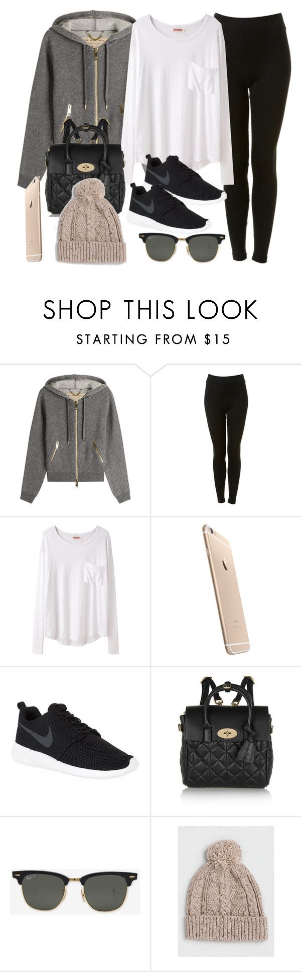 """""""Style #11560"""" by vany-alvarado ❤ liked on Polyvore featuring Burberry, Topshop, Organic by John Patrick, NIKE, Mulberry, Ray-Ban and Topman"""