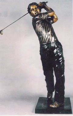 Lovely Bronze Life Size Golfer Suitable For Outdoor Garden Use Available At  AllSculptures.com