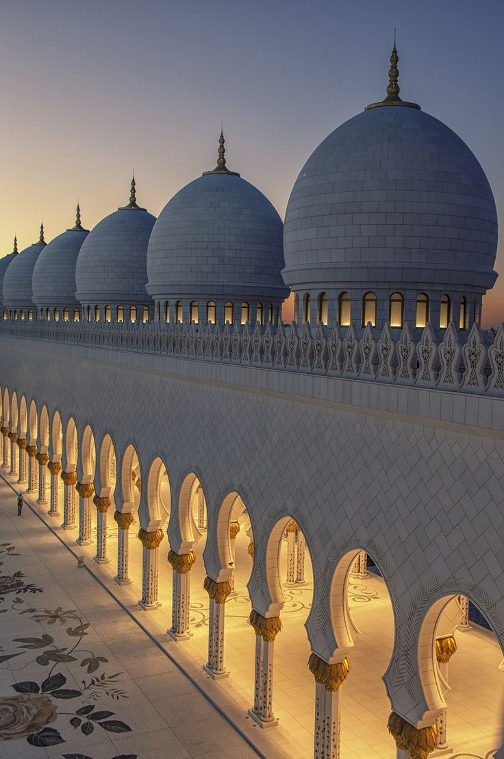 Spiritual by O Al Zubaidi  Domes and Posts of Sheikh Zayed Grand Mosque