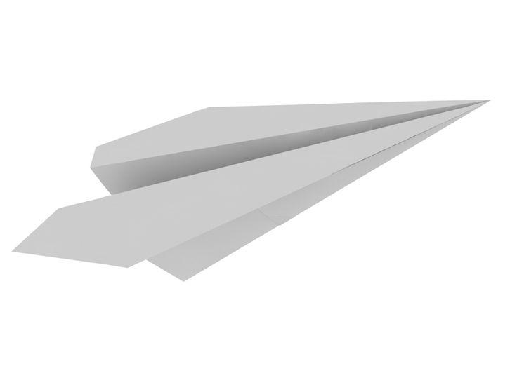 Paper airplanes planes 3d model