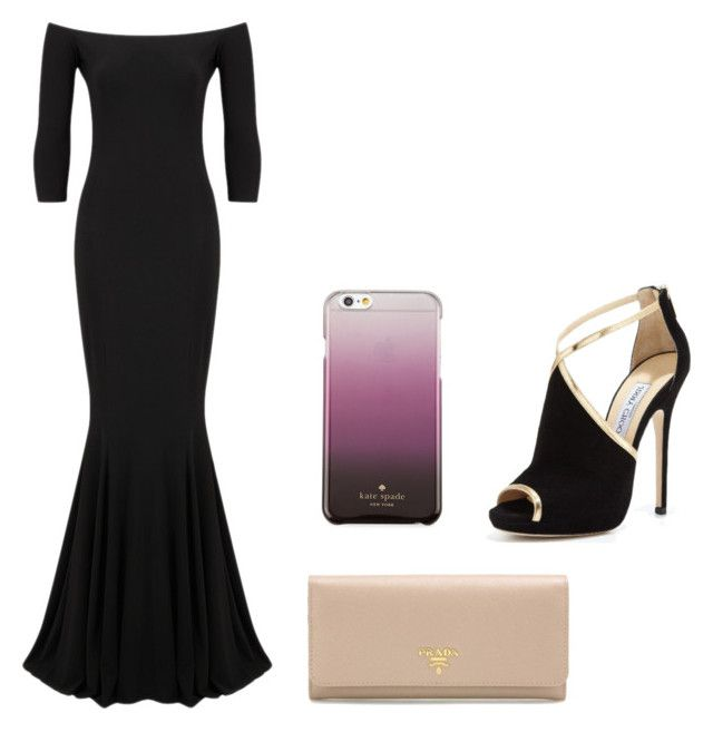 """""""Prom"""" by camryngarland ❤ liked on Polyvore featuring KamaliKulture, Jimmy Choo, Prada and Kate Spade"""